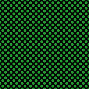 Green Dots on Black