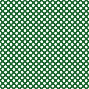 Dots - White on Green