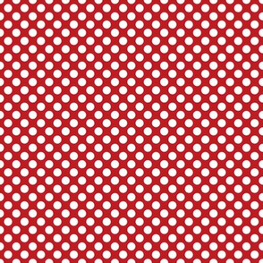 Dots - White on Red