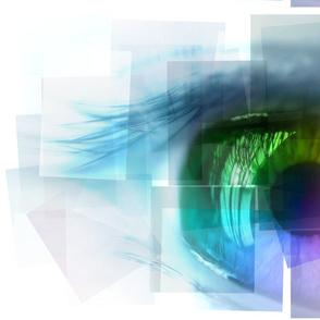 Rainbow Shattered Eye Panel