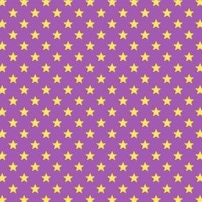 Large Yellow Stars on Mid Purple