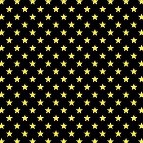 Medium Yellow Stars on Black