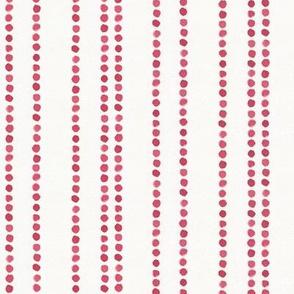 dot stripes - beetroot