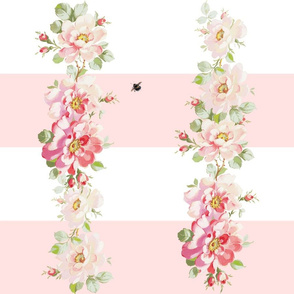 Rosewitha Stripe in peony pink