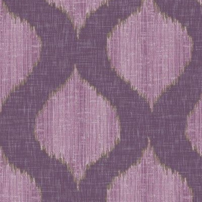 Lela Ikat in Plum
