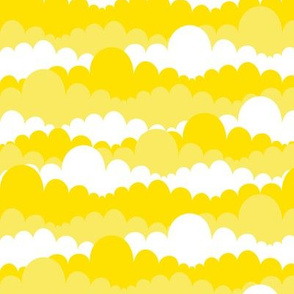 Clouds in Yellow and White