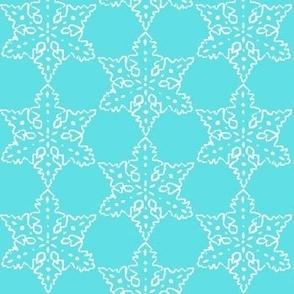 1960s Turquoise Snowflake // Vintage Pyrex // Aqua Snowflake