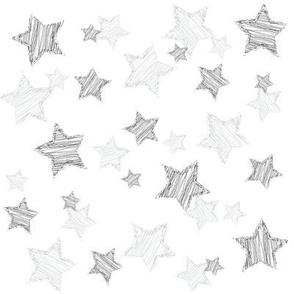 Monochrome Sketched Stars