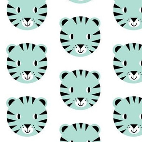 tiger face mint happy design for kids trendy minimal swedish design nursery