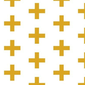 golden yellow cross plus