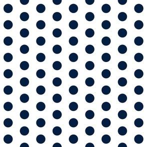navy white polka dots