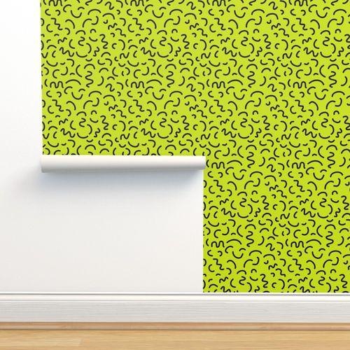 Wallpaper bright memphis felt tip pen summer bright 80s rad memphis design