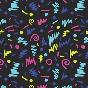 memphis shapes bright 80s rad design for modern trendy kids