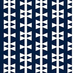 navy triangle stripe