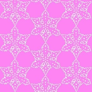 1960s Pink Christmas snowflake fabric, Holidays, Christmas, pink Snowflake , holiday fabric, Christmas fabric, Christmas pattern,