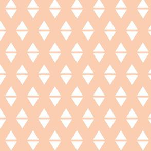 blush white triangle