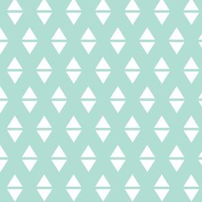 mint white triangle