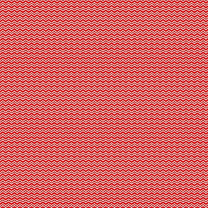 Tiny Red & White Zigzag