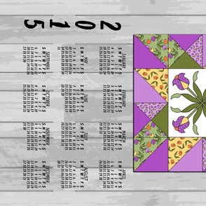 Barn_Quilt_Block_Calendar_2015_violet print tulips Gc2