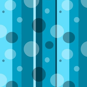 Blue Circles and Stripes