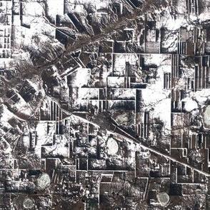 satellite asia kazak industrial city geometric