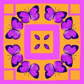 Neon Butterflies Block
