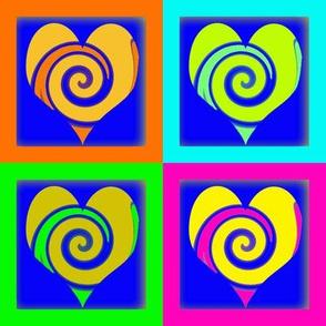 Neon Swirly Hearts