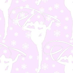 Gymnast pink background