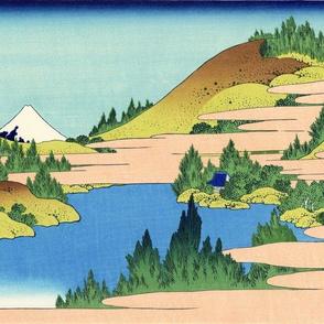 The lake of Hakone in Sagami Province