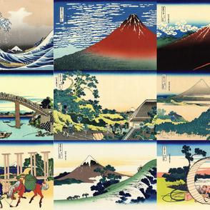 36 Views of Mt Fuji (1-9)