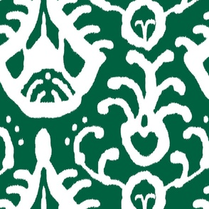 Ikat in emerald