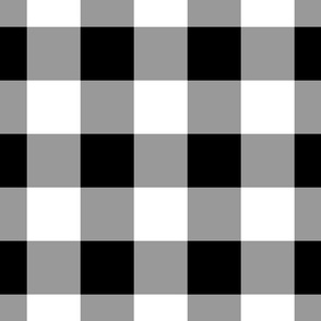 Gingham ~ Black and White and Grey All Over ~ Medium