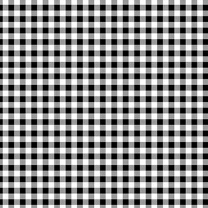 Gingham ~ Black and White and Grey All Over ~ Small