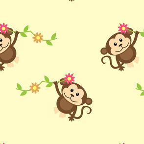 Yellow Monkey Pattern