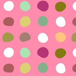 Large dots- Bubblegum