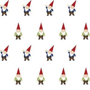 Woodland Gnomes on White