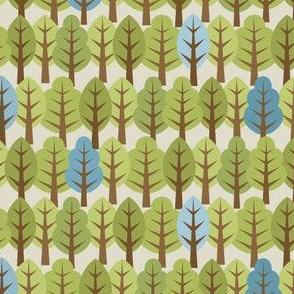 Woodland Trees - Blue