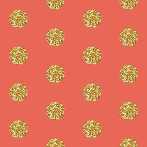Glitter Dots Beaucoup! in Coral