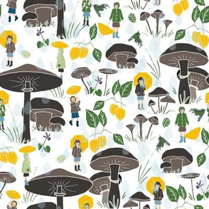 Woodland umbrellas