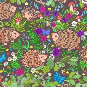 Scandinavian Woodland animals Hedgehog nursery with Butterfly & Robin Forest