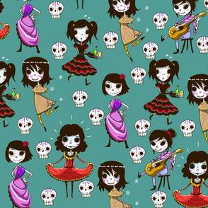 Calaveras Girls - Skulls