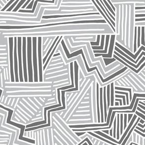 Zig Zag Riot (light grey, mid grey, white)