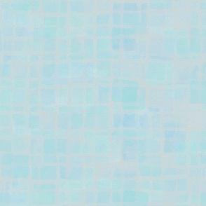 double tiles in iridescent aqua