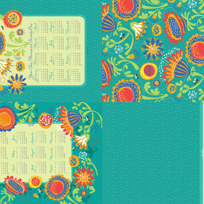 2021 Tea Towel_Bee's Playground in Color