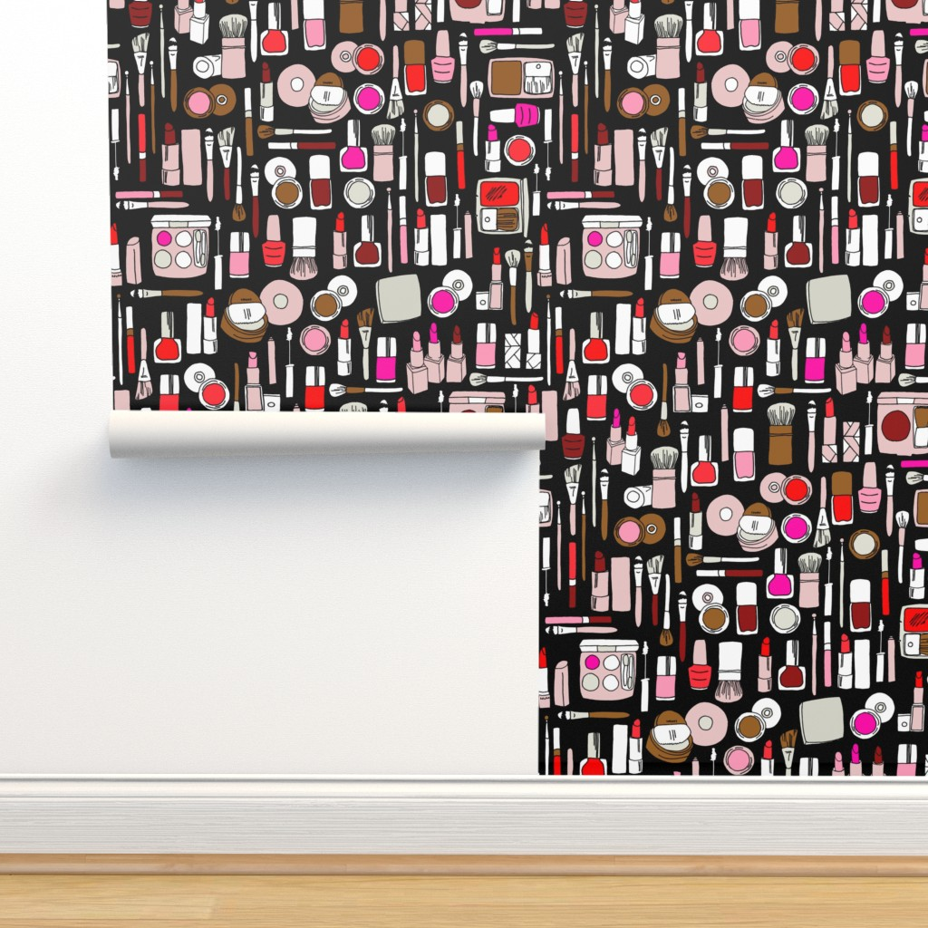 Isobar Durable Wallpaper featuring makeup // red pink magenta by andrea_lauren