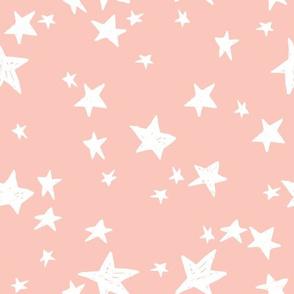 stars // pale pink baby nursery fabric peachy pink design andrea lauren fabric