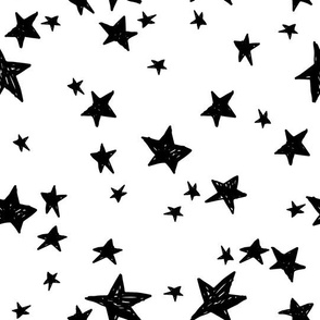 stars // black and white nursery fabric andrea lauren design scandinavian inspired nursery baby design