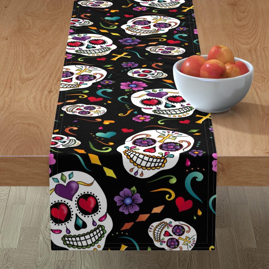 Minorca Table Runner featuring Calaveras Celebration by designergal