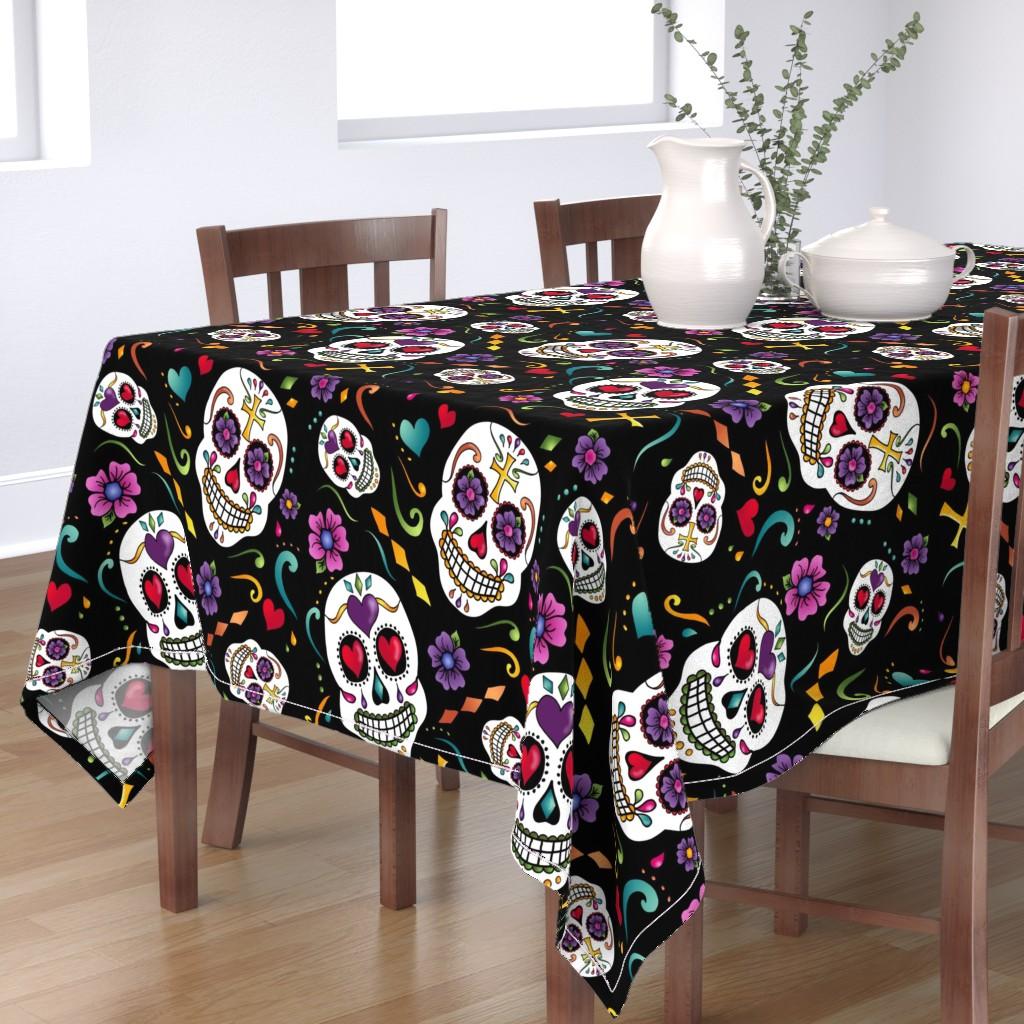 Bantam Rectangular Tablecloth featuring Calaveras Celebration by designergal