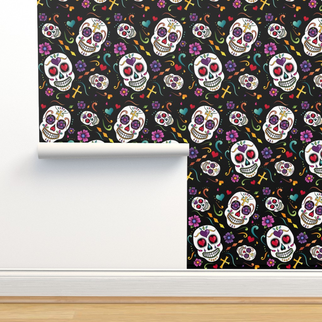 Isobar Durable Wallpaper featuring Calaveras Celebration by designergal